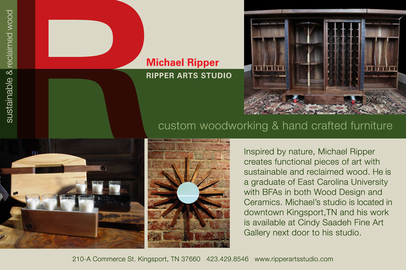 Ripper Arts Studio :: 210-A Commerce St, Kingsport, TN 37660 :: 423-429-8546